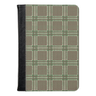 Plaid green and brown kindle case