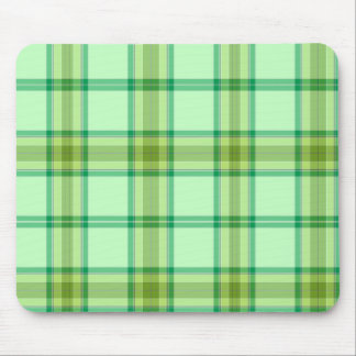 Plaid - Green Mouse Pads