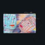 "Plaid Heads - Coin Purse<br><div class=""desc"">From the original pastel piece by Lou Patrou</div>"