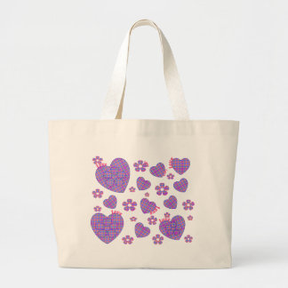 Plaid Heart & Floral Love Bags