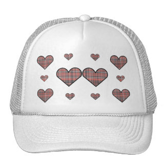 Plaid Hearts hat