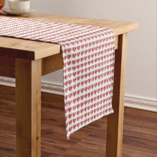 Plaid Hearts Pattern Short Table Runner