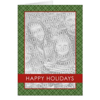 Plaid Holdiay Template Greeting Card