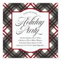 Plaid Holiday Party Invitation