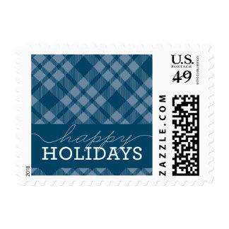Plaid Holiday Postage
