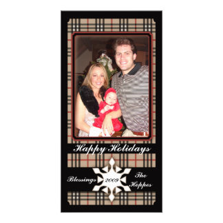 Plaid Holiday Traditions Picture Card