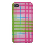 Plaid Hot Easter Colors iPhone 4/4S Cases