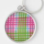 Plaid Hot Easter Colors Keychain