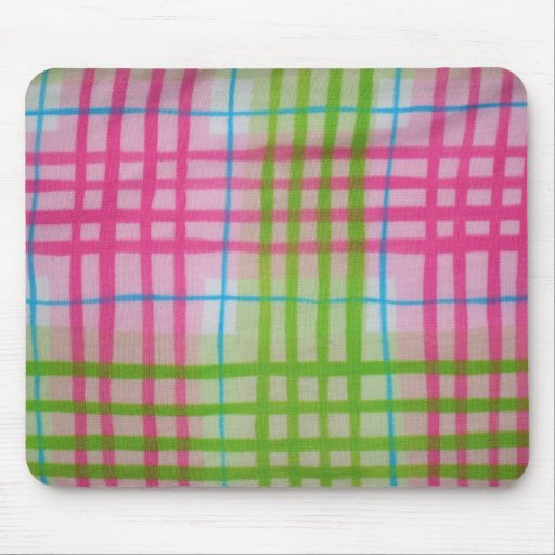 Plaid Hot Easter Colors Mouse Pad
