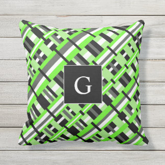 Lime Green And Gray Pillows - Decorative & Throw Pillows Zazzle
