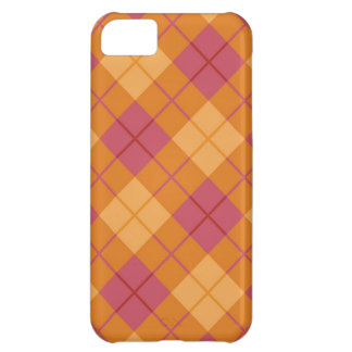 Plaid in Pink-Orange iPhone 5C Cover