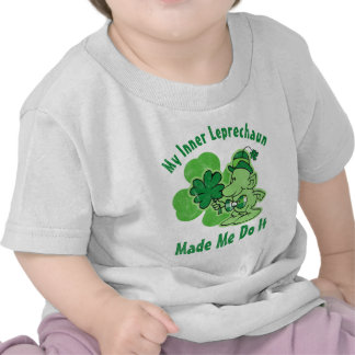 Plaid Inner Leprechaun T-shirts