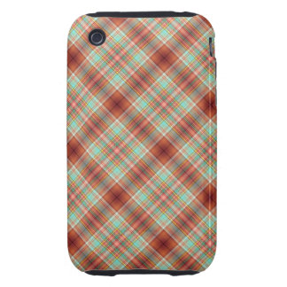 Plaid iPhone 3 Case Mate Tough Cover Rust Teal