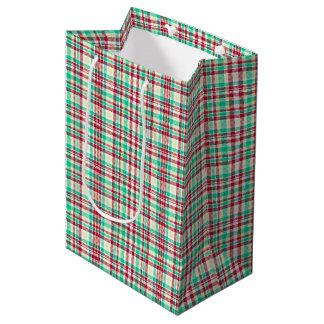 Plaid is for Christmas Medium Gift Bag
