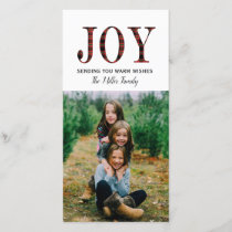 Plaid Joy Holiday Photo Cards (4x8)