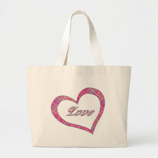 Plaid Love Heart Design Bag
