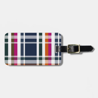 plaid tags for luggage