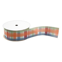 Plaid Madras Pattern Ribbon