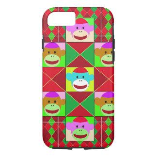 Plaid monkeys. iPhone 7 case
