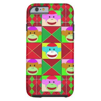 Plaid monkeys iPhone 6 case