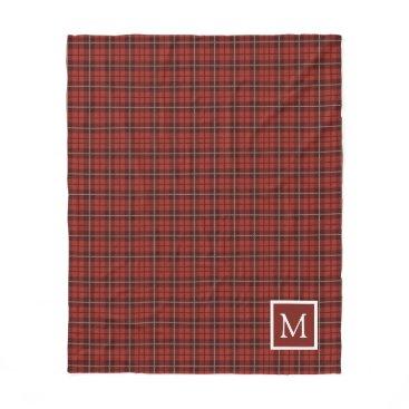 monogram_bouquet Plaid Monogram Fleece Blanket