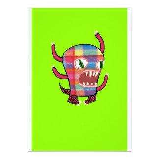 Plaid Monster Card