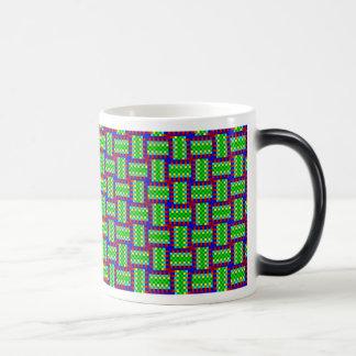 Plaid of color swatches magic mug