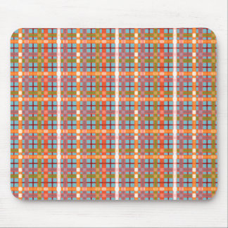 Plaid-On-Blue-Curacao-Background Pattern Mouse Pad