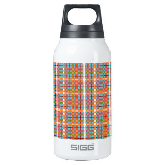 Plaid-On-Blue-Curacao-Background Pattern Thermos Bottle