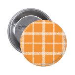 Plaid Orange Button