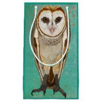 PLAID OWL SMALL GIFT BAG