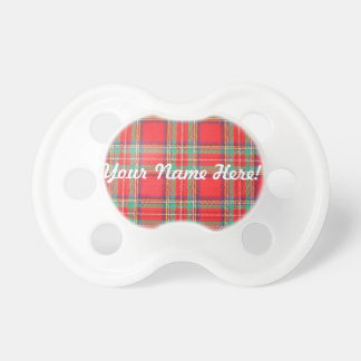 Plaid Pacifier