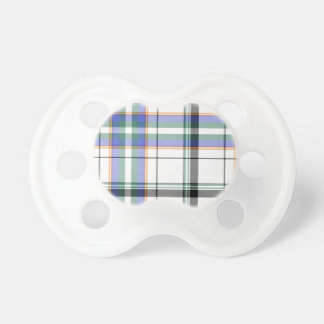 Plaid pacifier with white background