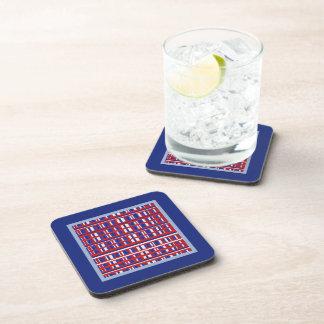 Plaid Patriot Drink Coasters