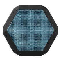 Plaid Pattern Blues Black Bluetooth Speaker