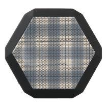 Plaid Pattern Blues Brown Cream Black Bluetooth Speaker