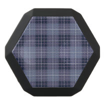 Plaid Pattern Blues & Purples Black Bluetooth Speaker
