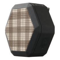 Plaid Pattern Browns & Cream Black Bluetooth Speaker