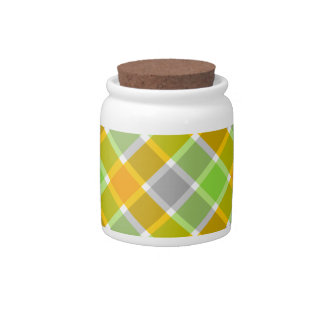 Plaid Pattern candy jars
