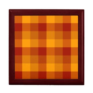 Plaid Pattern custom gift / jewelry box