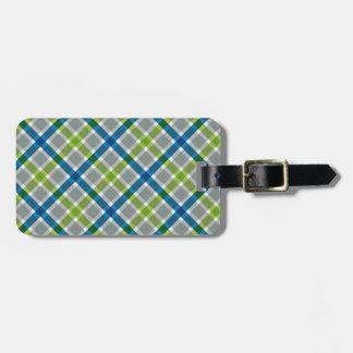 Plaid Pattern custom luggage tag
