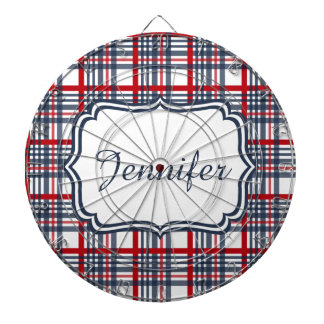 Plaid pattern dart board