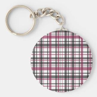 Plaid pattern keychain