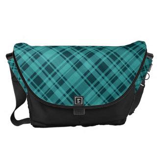 Plaid Pattern Large Messenger Bag
