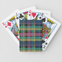 Plaid Pattern Playing Cards