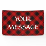 Plaid Pattern - Red and Black Banner