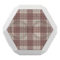 Plaid Pattern Reds & Cream White Bluetooth Speaker