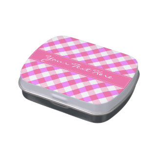 Plaid Pattern tins & jars Jelly Belly Candy Tins