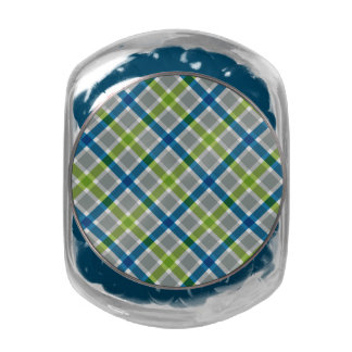 Plaid Pattern tins & jars Glass Jars