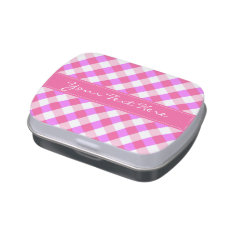 Plaid Pattern tins & jars Jelly Belly Candy Tins at Zazzle